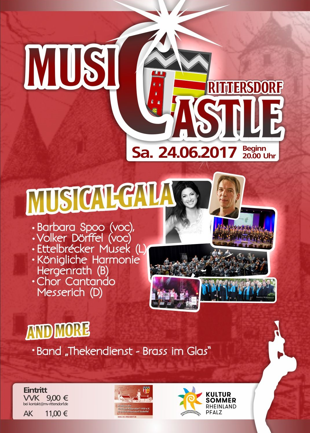 Musicastle Rittersdorf Plakat A3 ohne TD